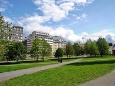 Walking Outside Oslo City Hall