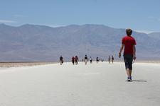 Walking Over Salt Flats