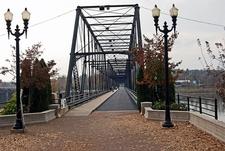 Walnut Street Bridge Near Riverfront Park - Harrisburg PA