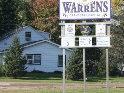 Warrens Wisconsin Welcome Sign