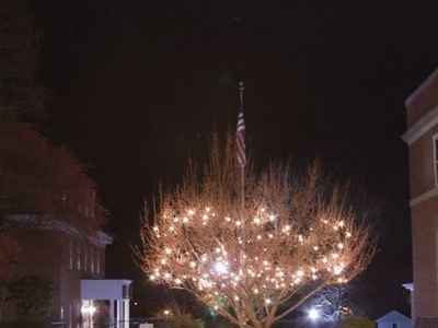 Warrentons Town Square At Christmastime