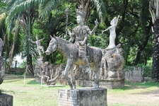 Warrior On The Horse At Vientaine Buddha Park