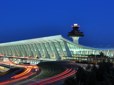 Washington  Dulles  International  Airport At  Dusk