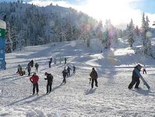 WA Snowboarding At Mount Baker