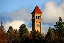 WA Spokane Clock Tower In Riverfront Park