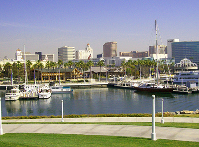 Water Boats At Port Of Long Beach CA