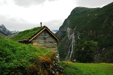 Waterfall At Geiranger Fjord Norway