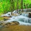 Waterfall In Forest In Kanchanaburi - Thailand
