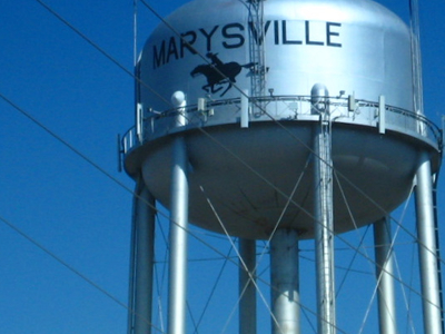 Water Tower In Marysville