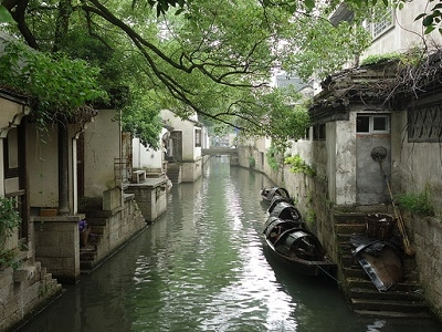 Waterway In Shaoxing Zhejiang