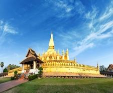 Wat Phra That Luang Golden Pagoda In Vientiane