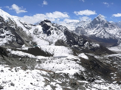 Way Down From Cho La Pass - Sagarmatha NP Nepal