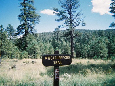 Weatherford Trail Sign