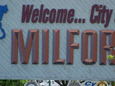 Welcome Sign On U.s. Highway