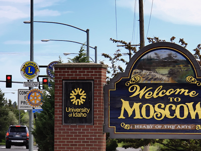 Welcome Sign In Moscow Idaho