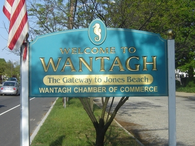 Welcome To  Wantagh  Sign 1