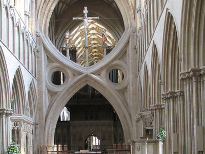 The Inverted Arch In Wells Cathedral