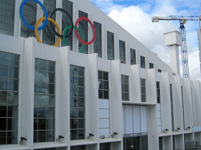 Wembley Arena With Olympic Rings