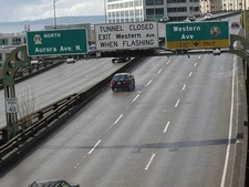Western Way Exit To Belltown - Seattle AW Viaduct