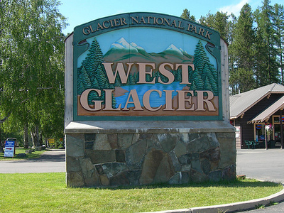 West Glacier In Montana - USA