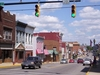 West Main Street In Downtown Shelby Looking East At The Intersec