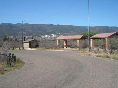 White Bridge Picnic Area Ramadas And Restrooms.