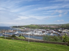 Whitehaven Harbour Overview UK Cumbria