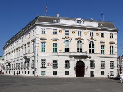 Austrian Federal Chancellery At Ballhausplatz