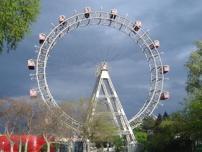 Wiener Riesenrad In The Wurstelprater Amusement Park