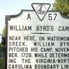 Historic Marker For William Byrd\'s Camp Historic Marker