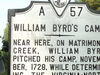 Historic Marker For William Byrd\'s Camp Historic Marker