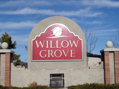 Willowgrove Entrance Sign