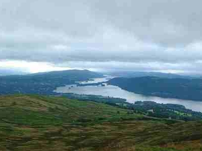 Looking South From Wansfell Pike To Windermere