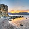 Windmill Ruin At Mirabello Bay - Crete Island Greece