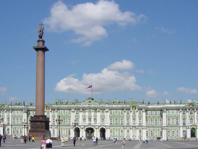 The Alexander Column In The Palace Square