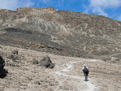 With Barafu Huts In Sight - Kilimanjaro Machame Route