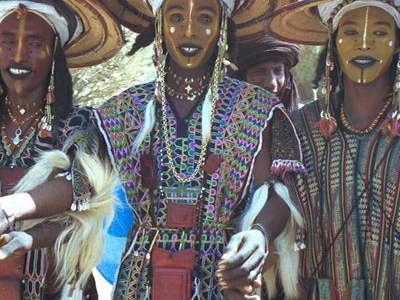 Wodaabe Performing A Dance Yaake