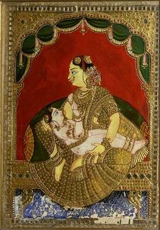 Woman Breast Feeding A Boy