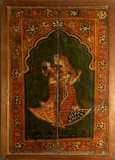 Women With Child Wood Painting