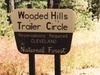 Wooded Hill Group Campground Sign