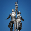 Trabajador y mujer koljoses