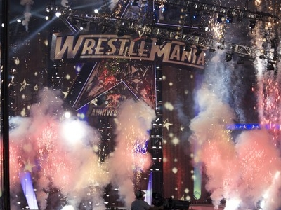 WrestleMania XXV Stage At Reliant Stadium