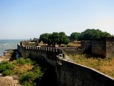 Wall Of The Portuguese Fort Of Diu Daman And Diu