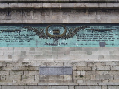 Inscription Wellington Monument