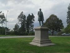 Western Prom And Brackett Reed Statue