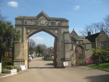Gothic Inner Gates To The Cemetery
