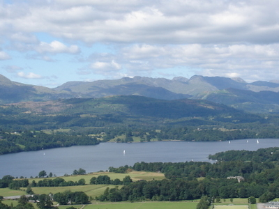 Windermere  Lake  District From Hill