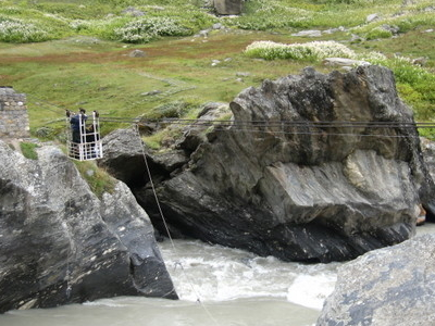 Wire  Bridge At  Thakur  Kuan