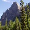 Wiwaxy Peak From Lake O\\\'Hara Campground