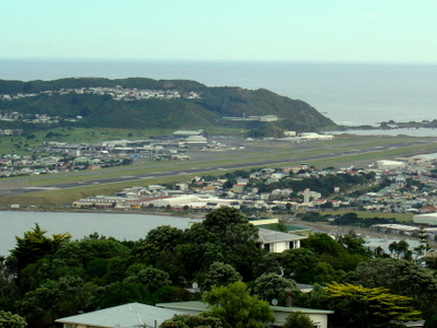 Wellington Airport From Mt Victoria